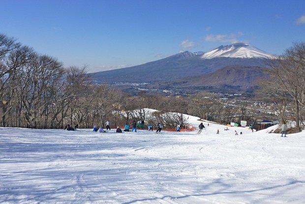 The Karuizawa ski resort overlooks Mount Asama.