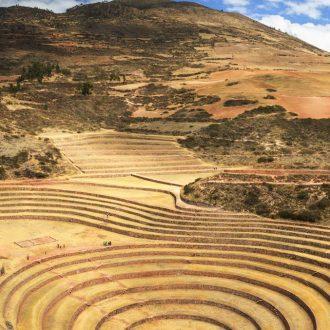 Peru Inca Terrace In Moray Cuzco