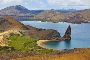 View of pinnacle on Bartolome, Galapagos