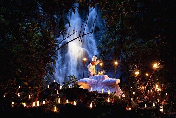 Waterfall dinner at The Sarojin